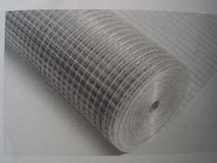 3/8inch Galvanized Welded Wire Panels , Concrete Reinforcing Mesh Roll